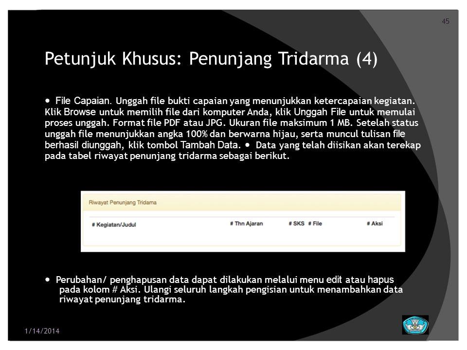 Petunjuk Khusus: Penunjang Tridarma (4)