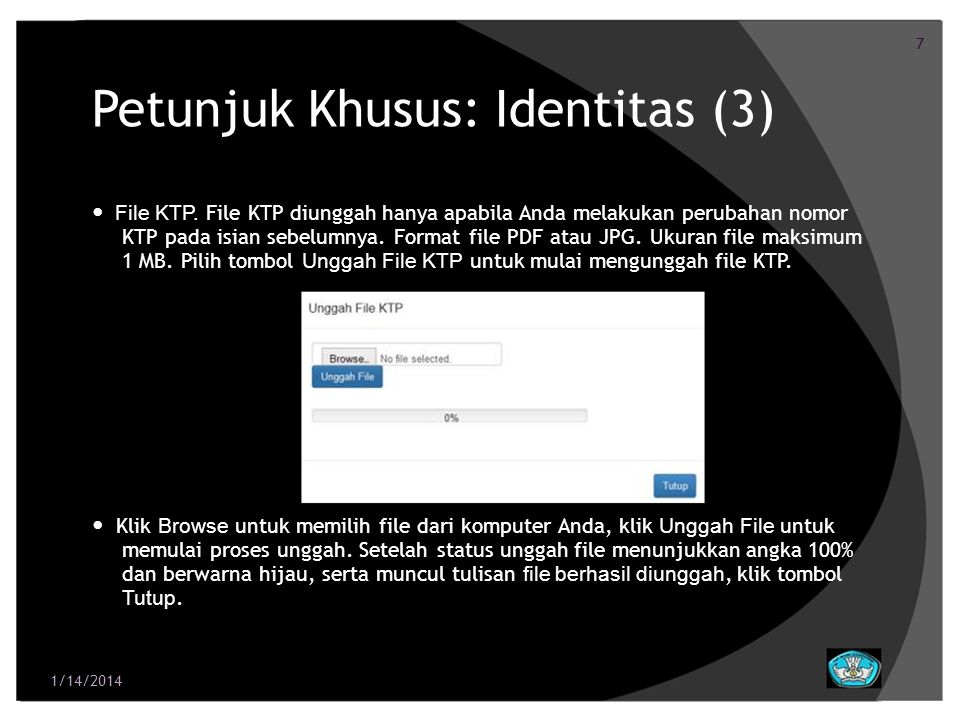 Petunjuk Khusus: Identitas (3)