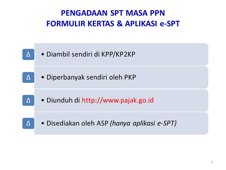 PENGADAAN SPT MASA PPN FORMULIR KERTAS & APLIKASI e-SPT