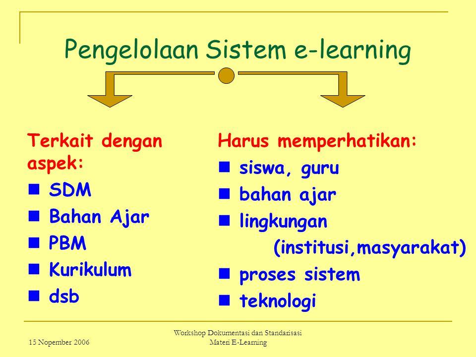 Pengelolaan Sistem e-learning