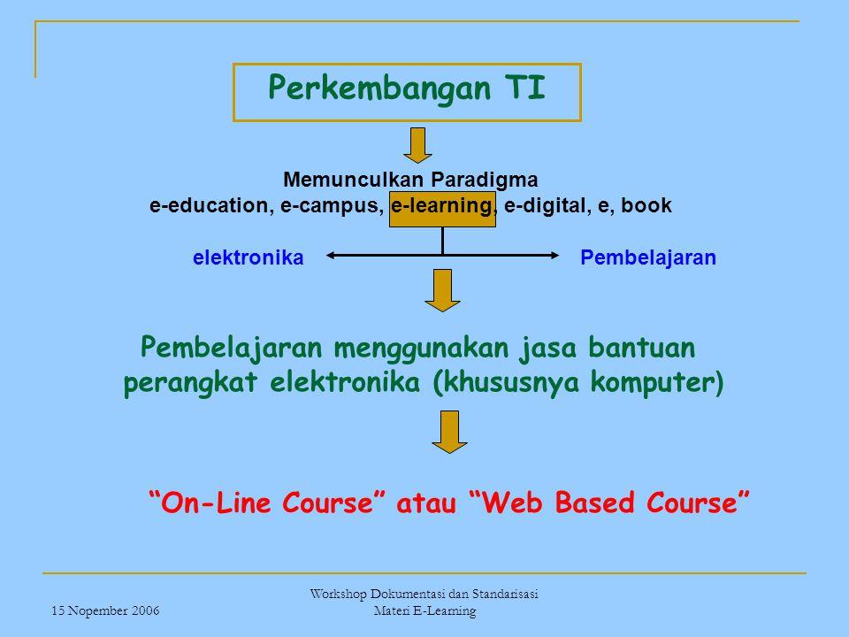 Perkembangan TI Pembelajaran menggunakan jasa bantuan