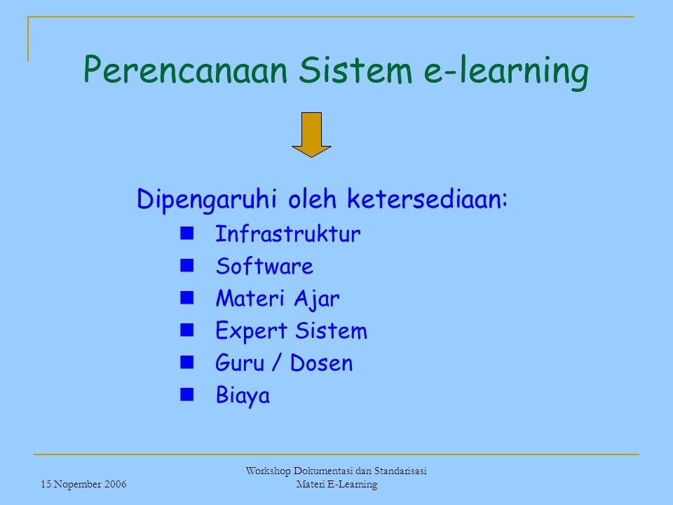 Perencanaan Sistem e-learning
