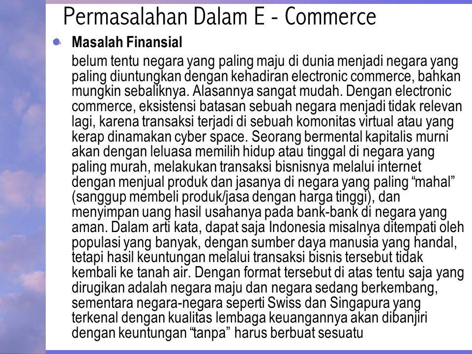 Permasalahan Dalam E - Commerce