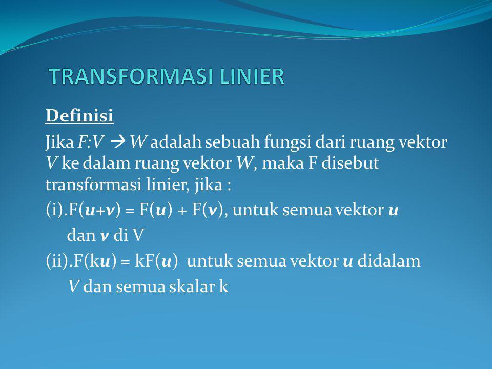 TRANSFORMASI LINIER Definisi