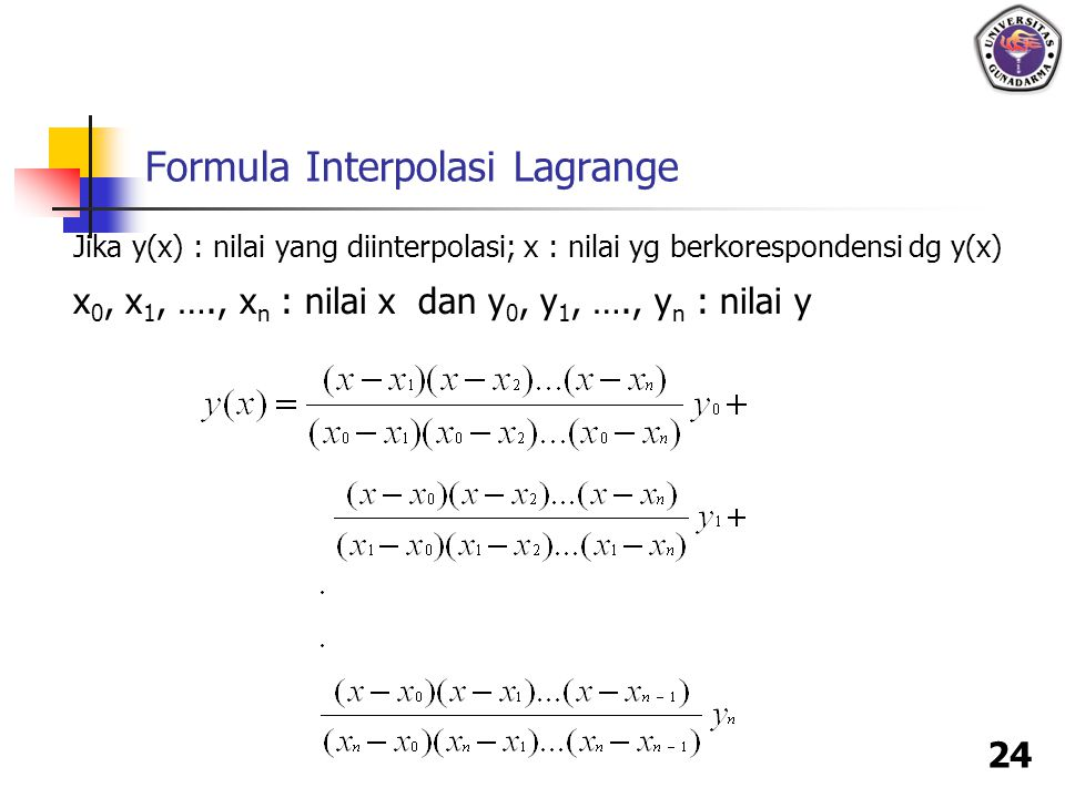 Formula Interpolasi Lagrange