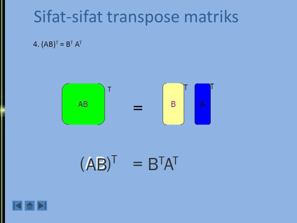 Sifat-sifat transpose matriks