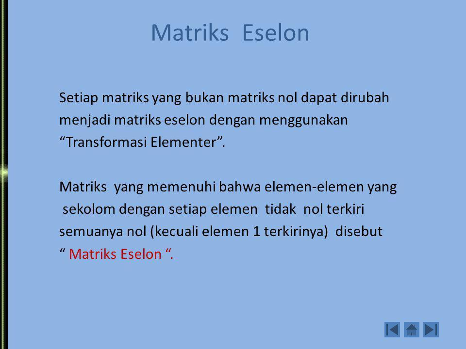 Matriks Eselon