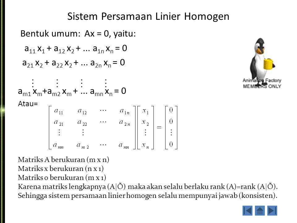 Sistem Persamaan Linier Homogen