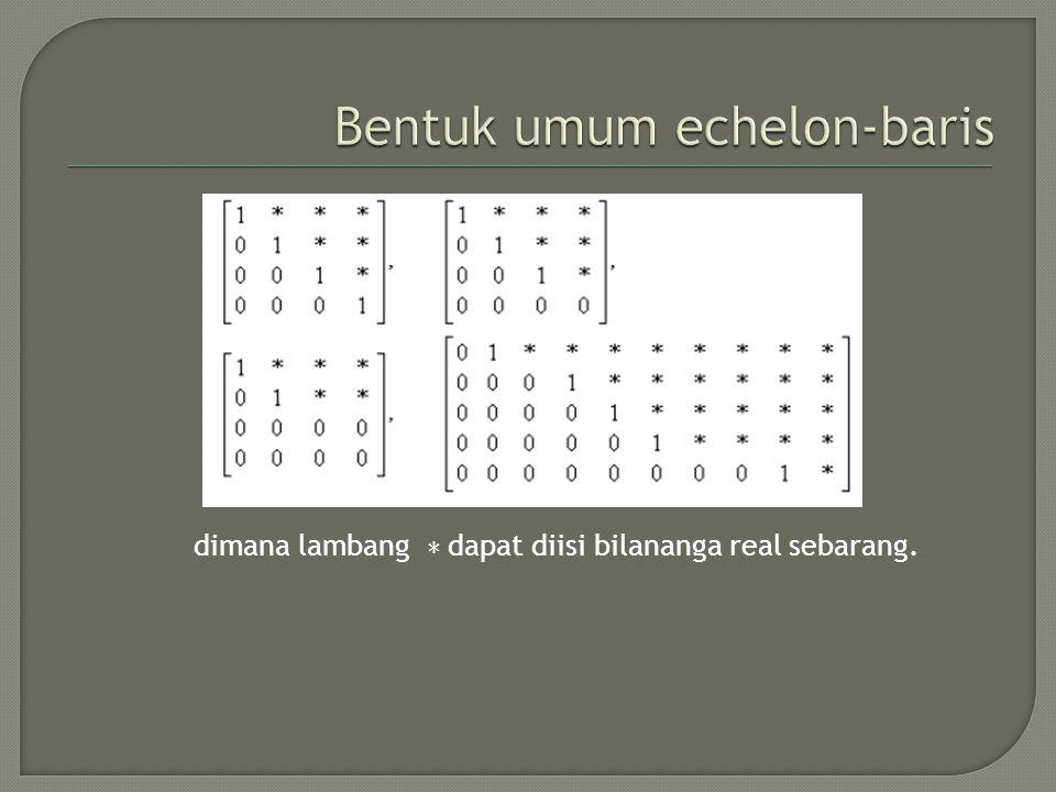 Bentuk umum echelon-baris