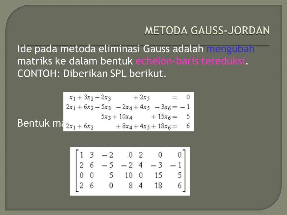 METODA GAUSS-JORDAN