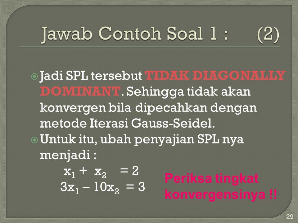Jawab Contoh Soal 1 : (2)