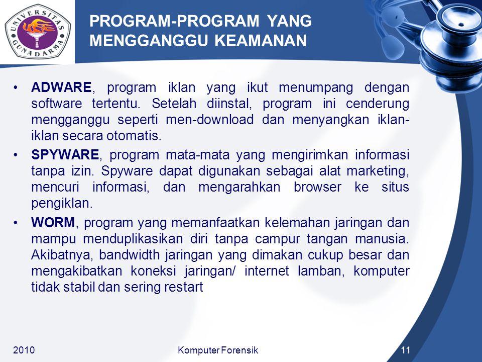 PROGRAM-PROGRAM YANG MENGGANGGU KEAMANAN