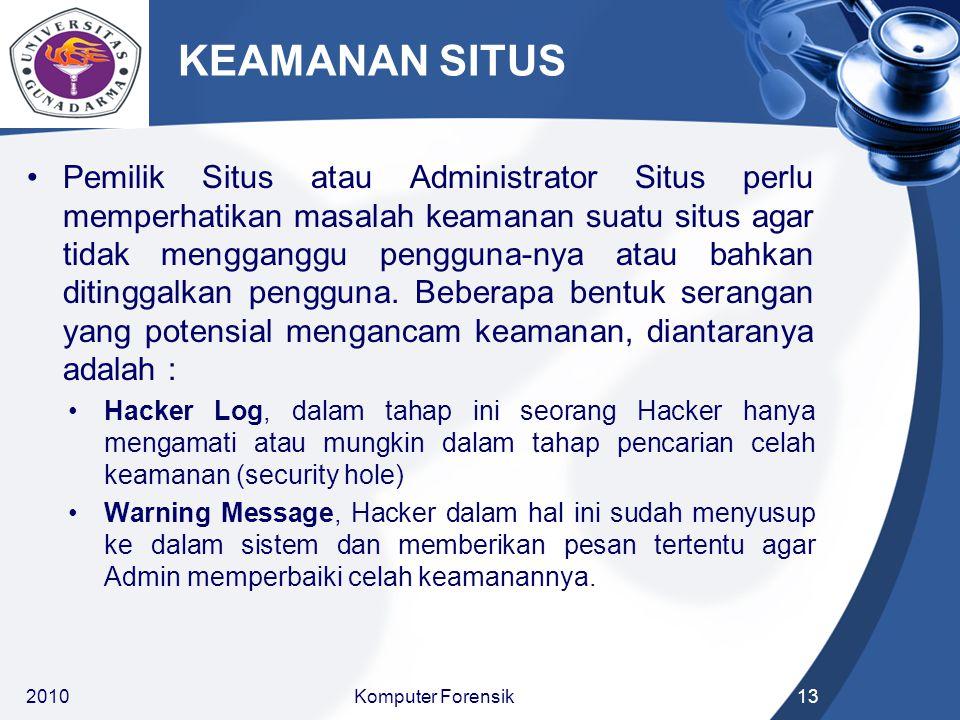 KEAMANAN SITUS