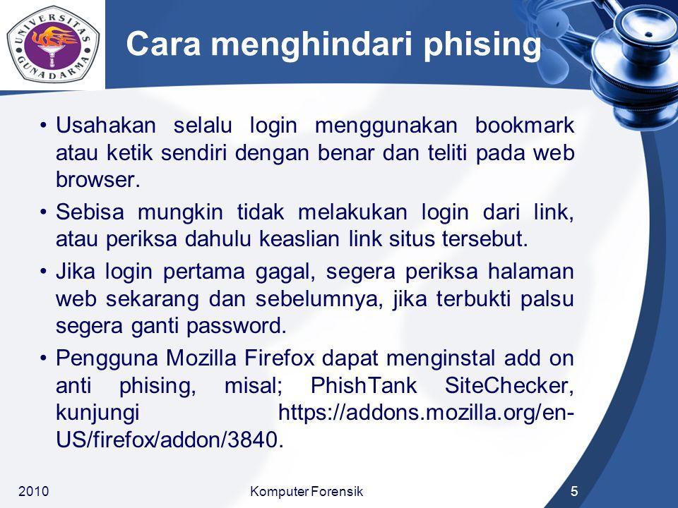Cara menghindari phising