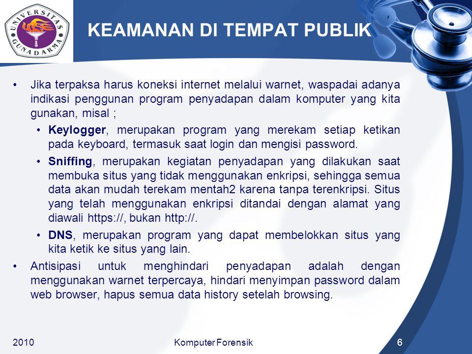 KEAMANAN DI TEMPAT PUBLIK