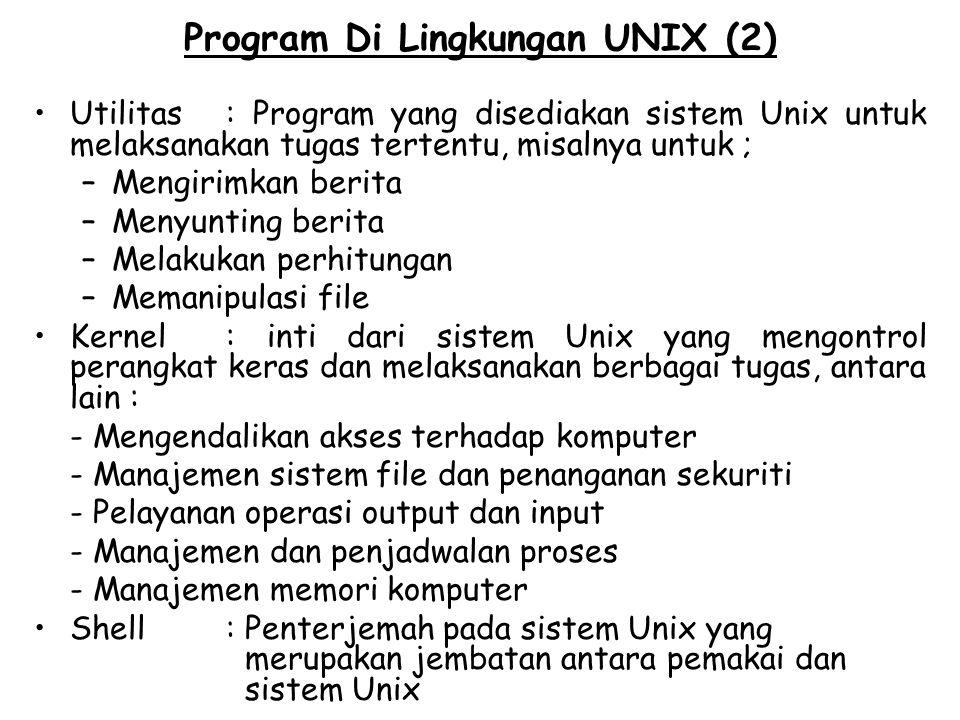 Program Di Lingkungan UNIX (2)