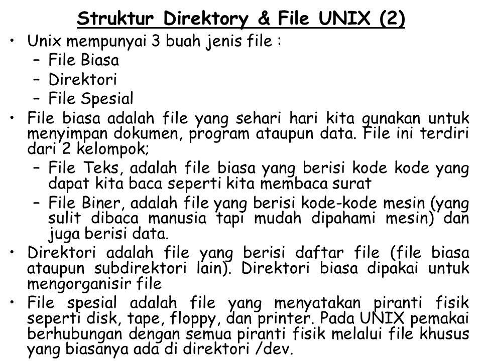 Struktur Direktory & File UNIX (2)