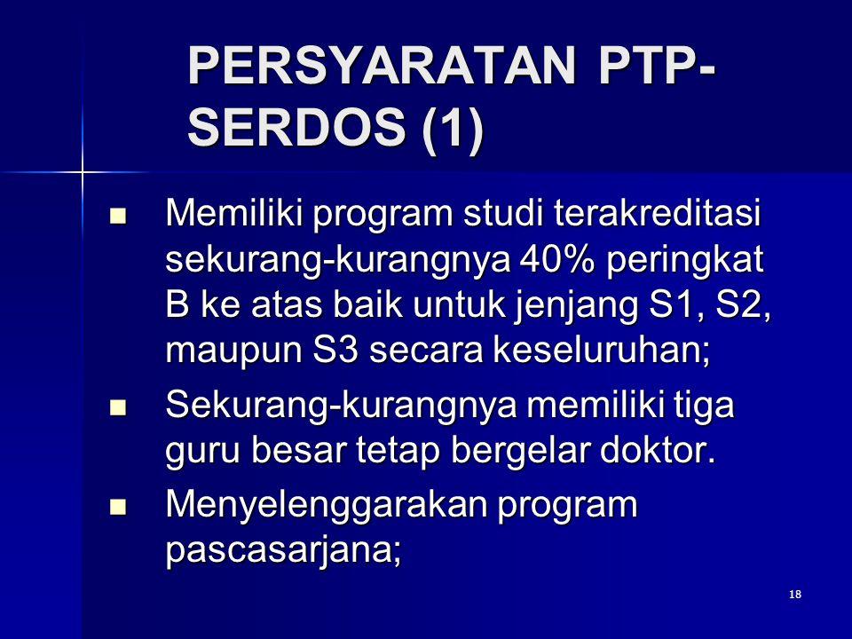 PERSYARATAN PTP- SERDOS (1)