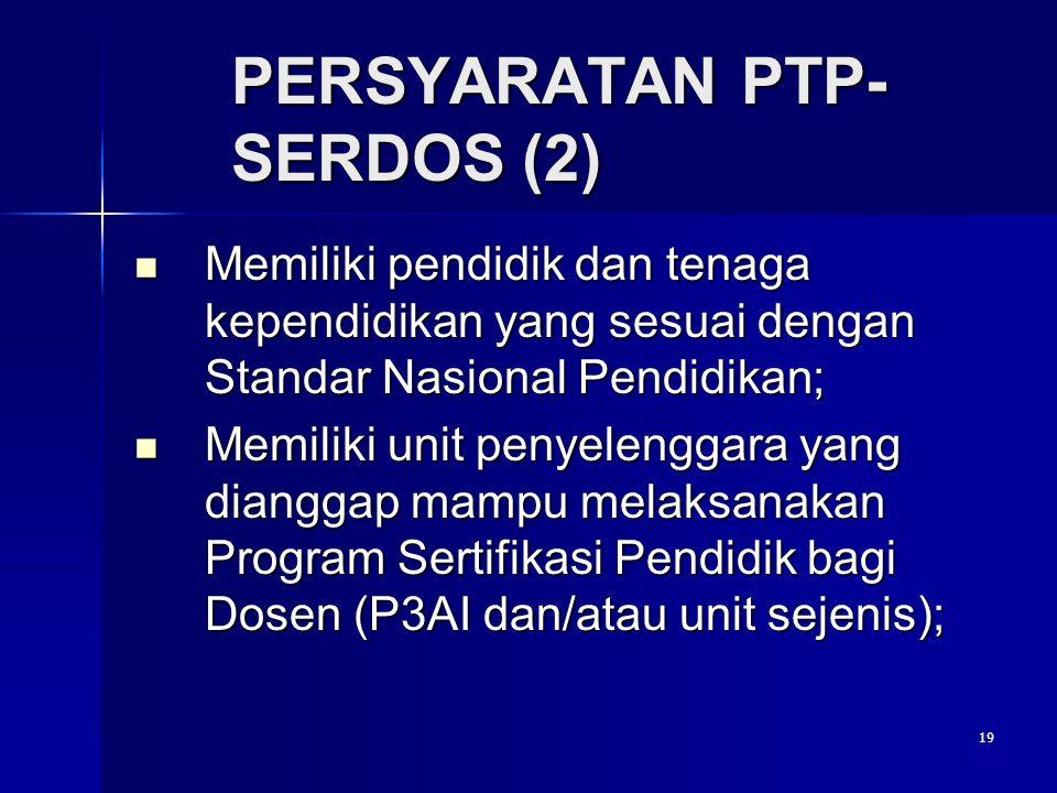 PERSYARATAN PTP-SERDOS (2)