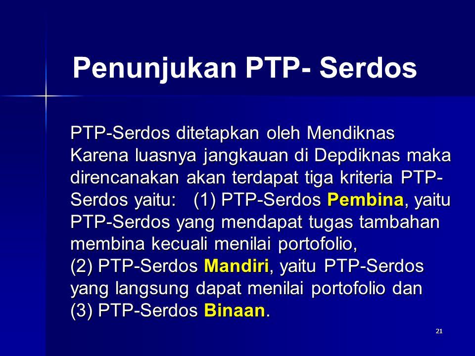 Penunjukan PTP- Serdos