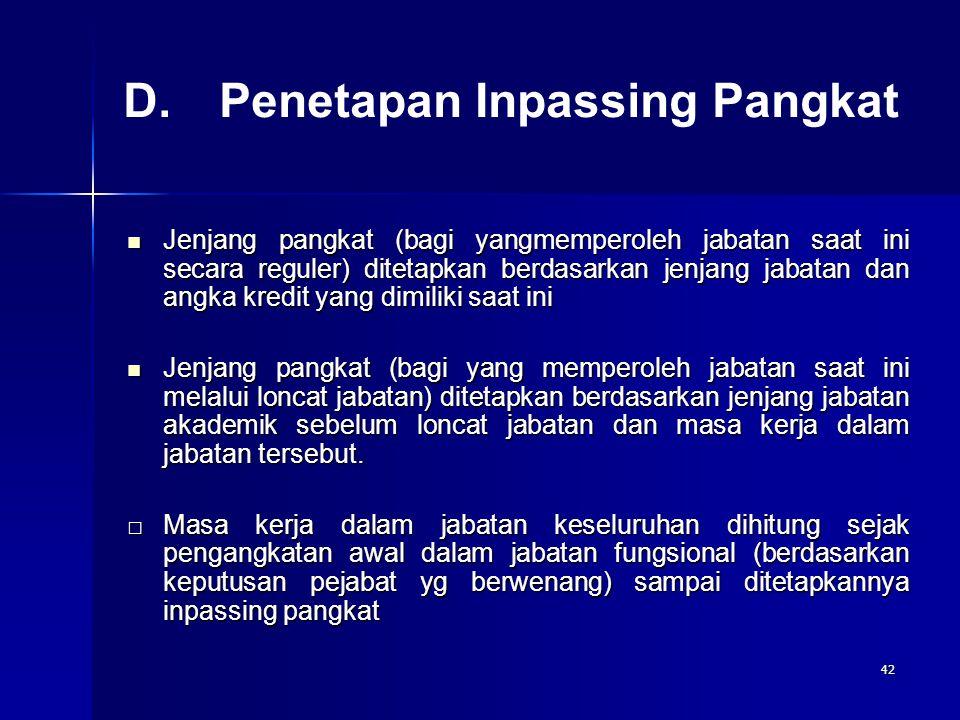 D. Penetapan Inpassing Pangkat