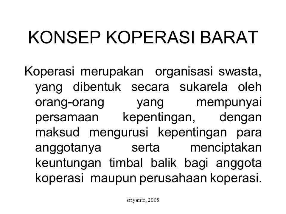 KONSEP KOPERASI BARAT