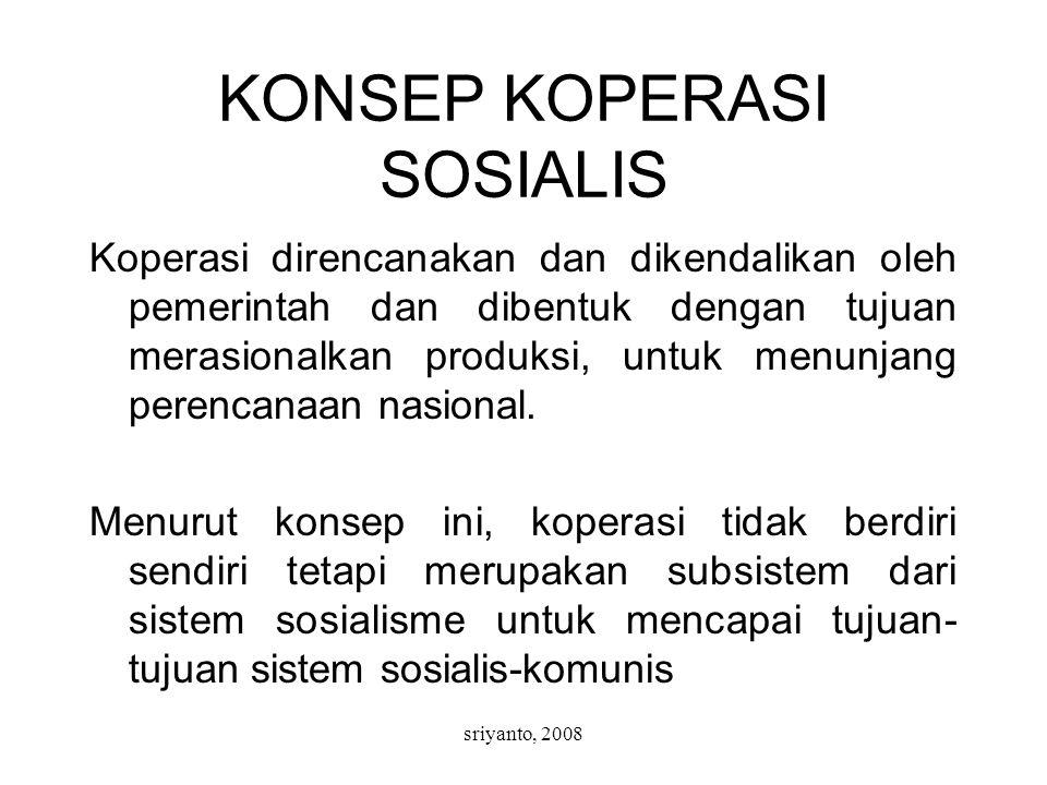 KONSEP KOPERASI SOSIALIS