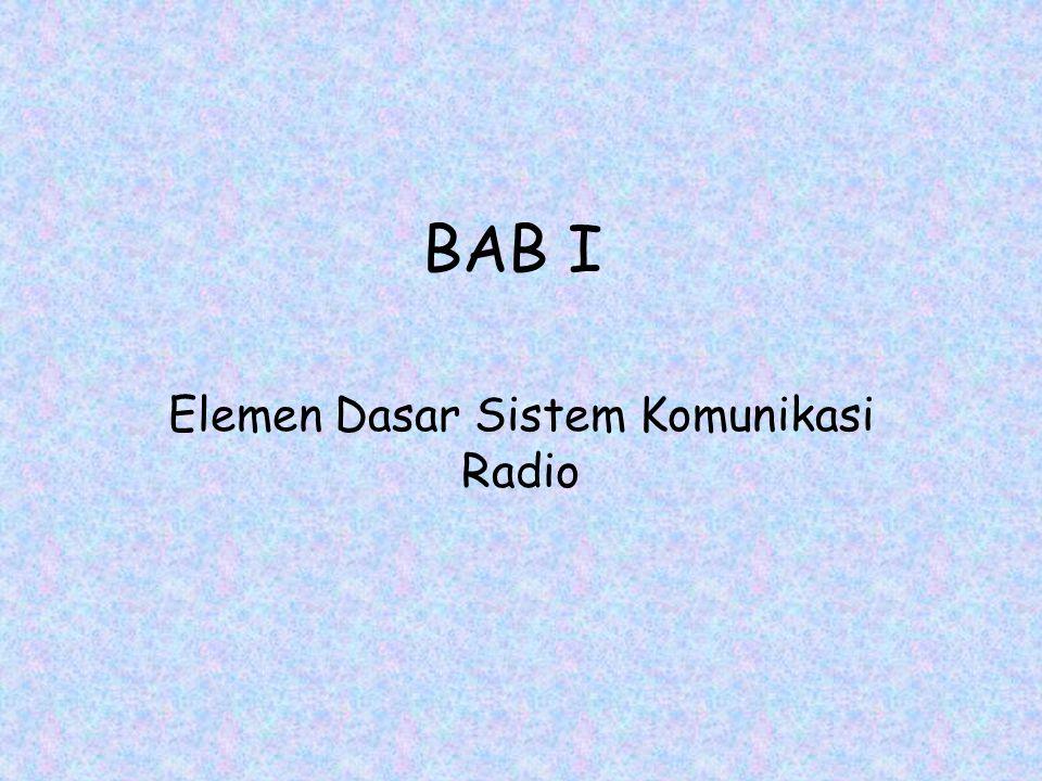 Elemen Dasar Sistem Komunikasi Radio