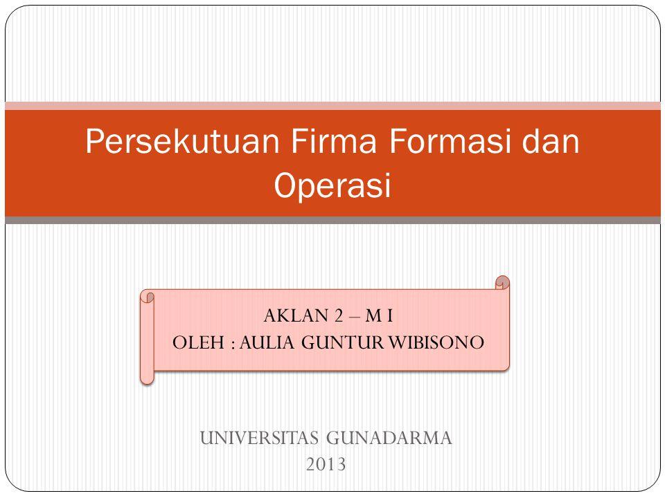Persekutuan Firma Formasi dan Operasi
