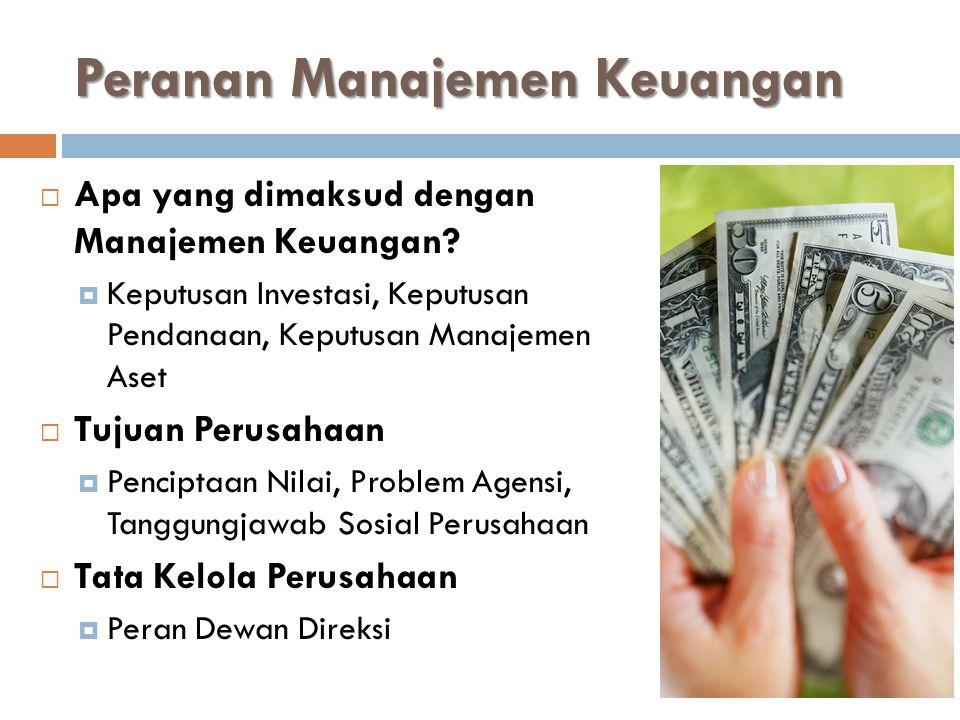Peranan Manajemen Keuangan