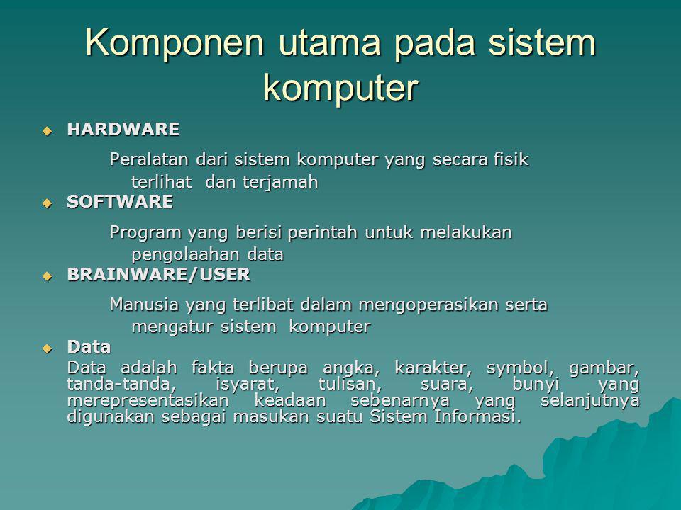 Komponen utama pada sistem komputer