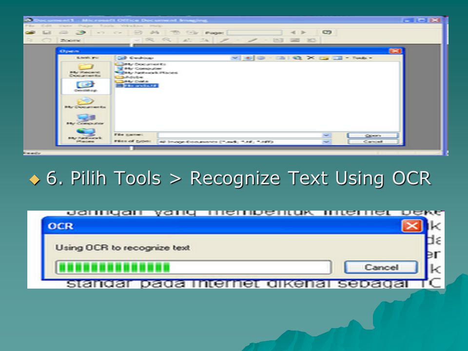 6. Pilih Tools > Recognize Text Using OCR