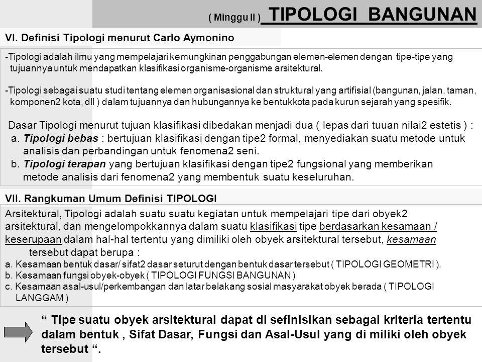 VI. Definisi Tipologi menurut Carlo Aymonino