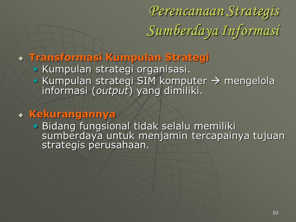 Perencanaan Strategis Sumberdaya Informasi
