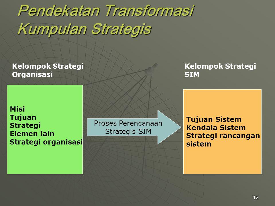 Pendekatan Transformasi Kumpulan Strategis