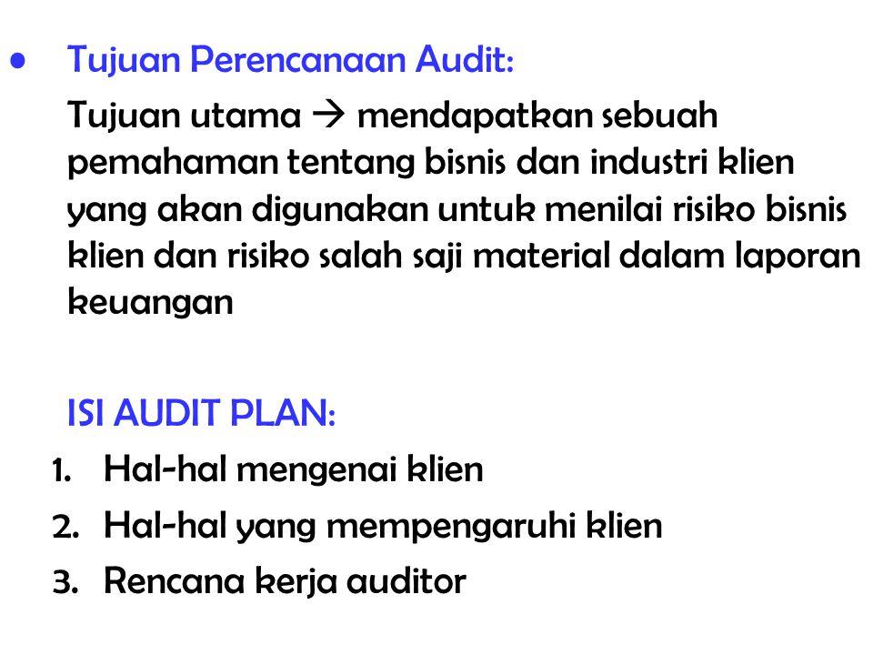 Tujuan Perencanaan Audit: