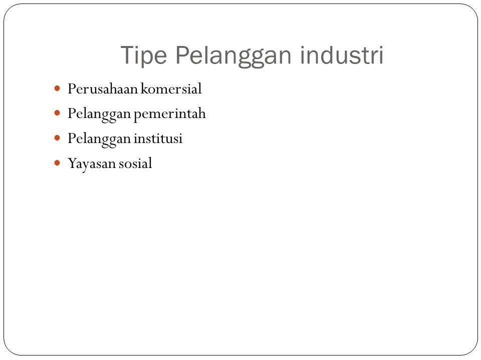 Tipe Pelanggan industri