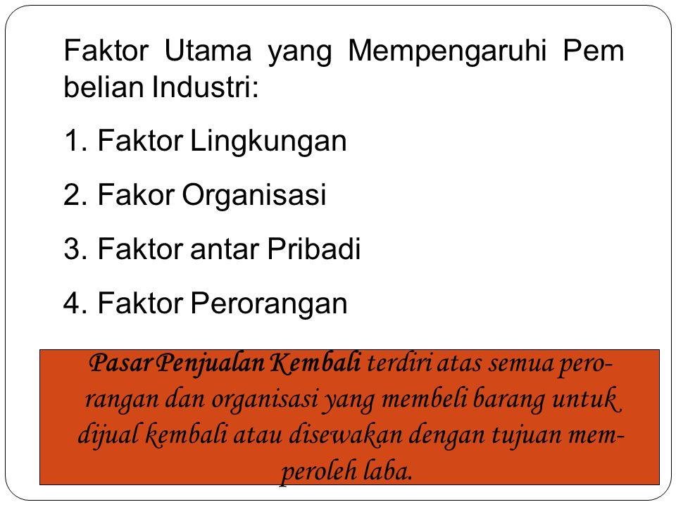 Faktor Utama yang Mempengaruhi Pem belian Industri: Faktor Lingkungan