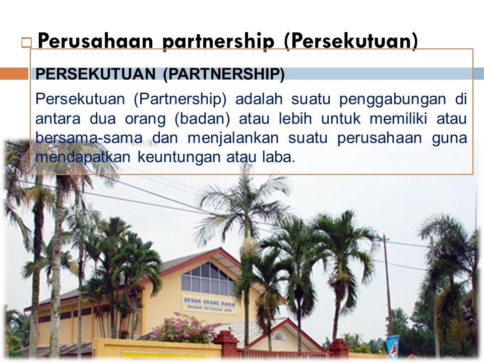 Perusahaan partnership (Persekutuan)