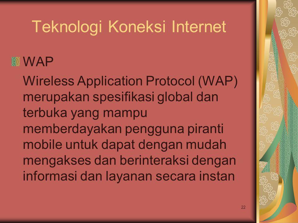 Teknologi Koneksi Internet