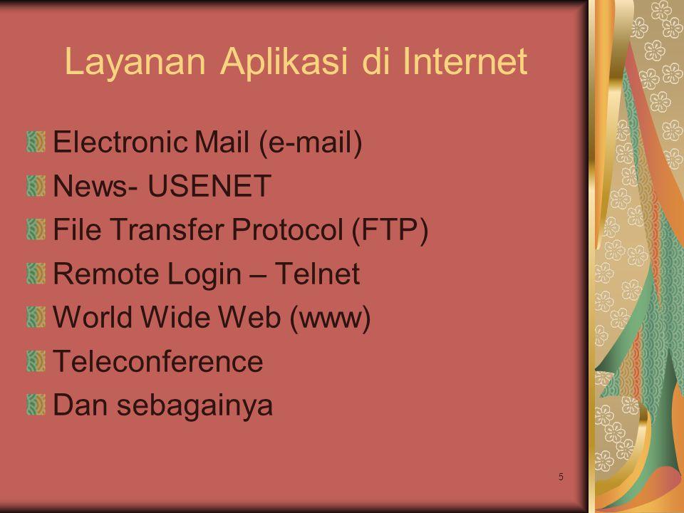 Layanan Aplikasi di Internet