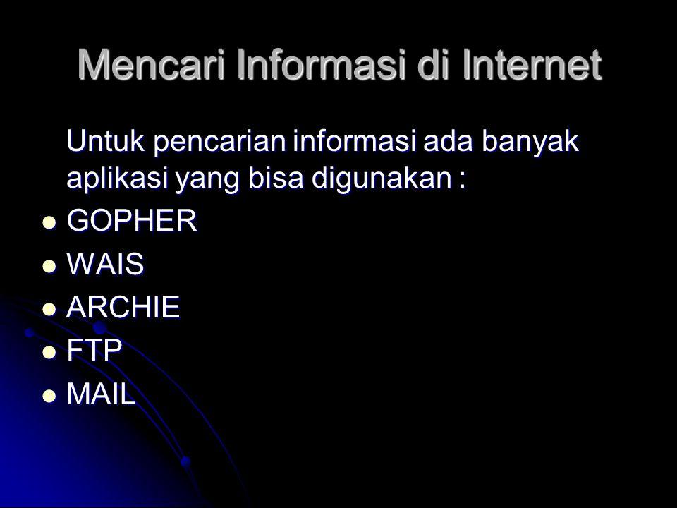 Mencari Informasi di Internet