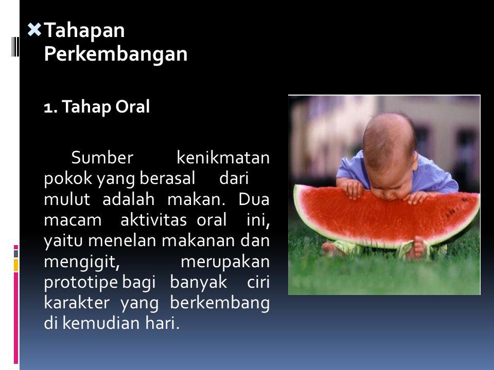 Tahapan Perkembangan 1. Tahap Oral