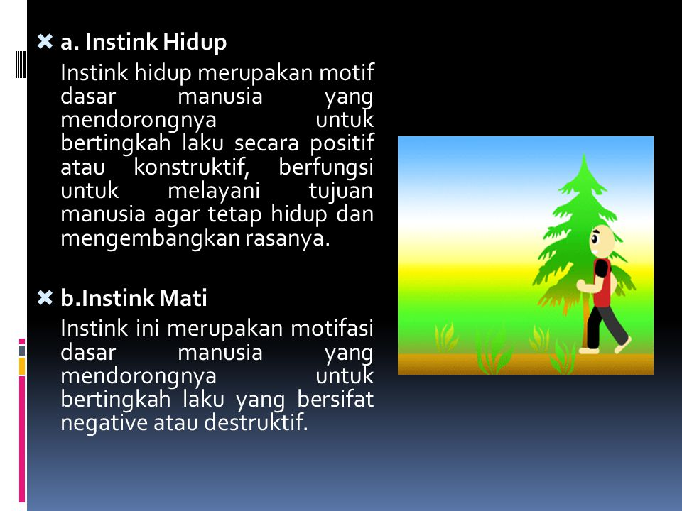 a. Instink Hidup