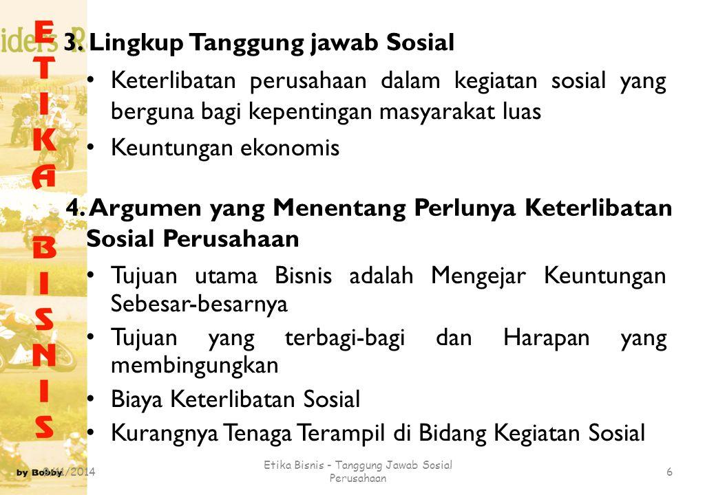 3. Lingkup Tanggung jawab Sosial