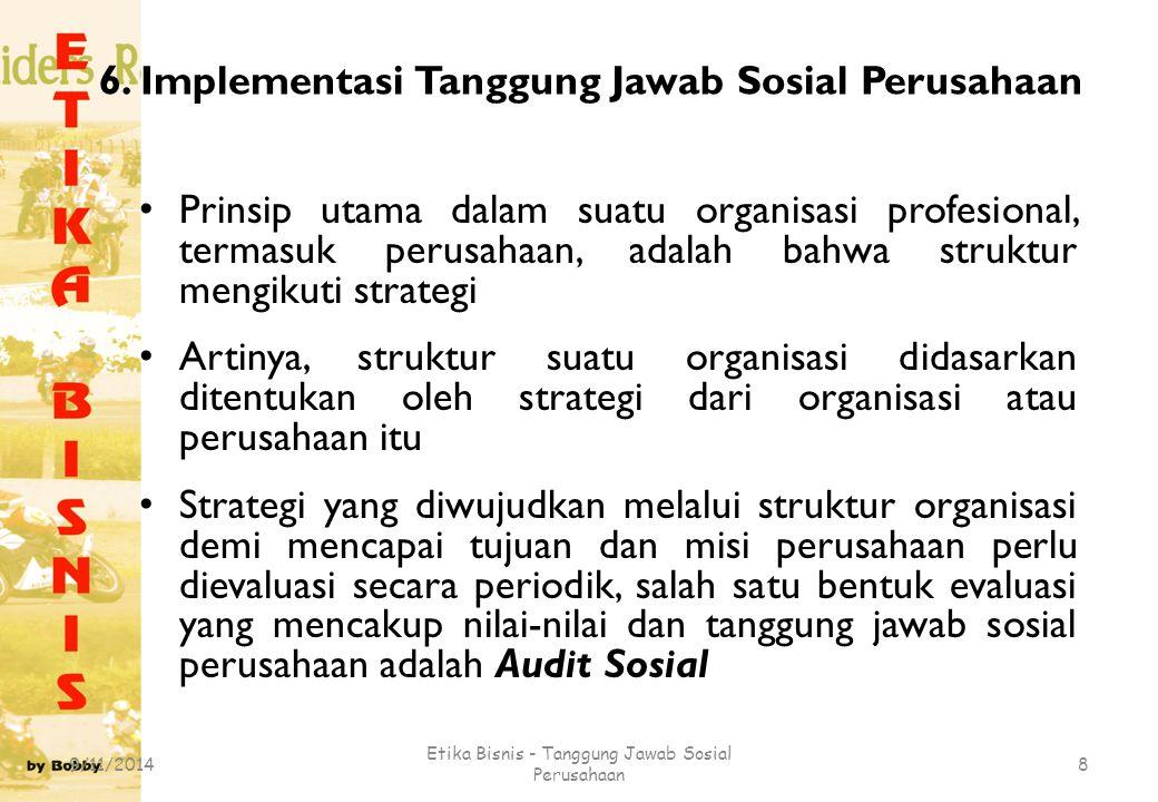 6. Implementasi Tanggung Jawab Sosial Perusahaan