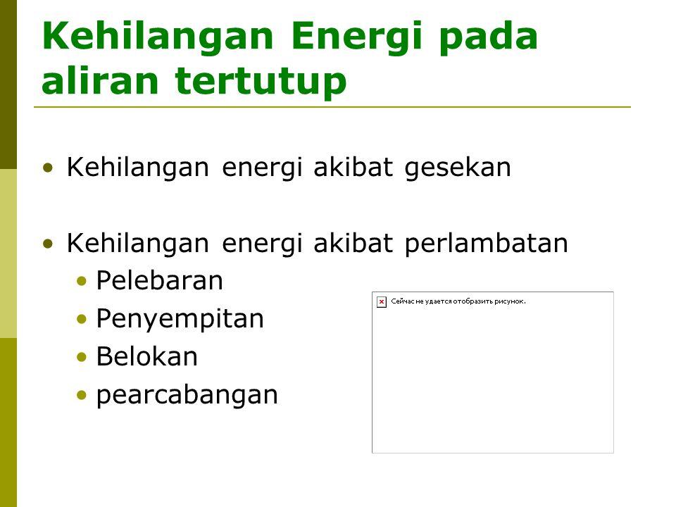 Kehilangan Energi pada aliran tertutup