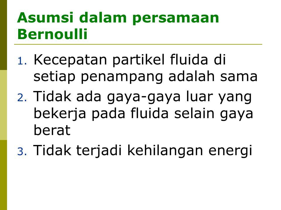 Asumsi dalam persamaan Bernoulli