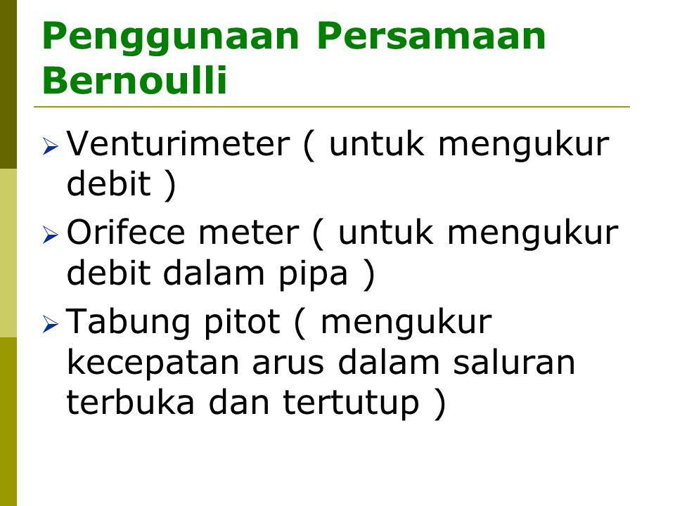 Penggunaan Persamaan Bernoulli