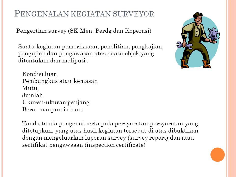 Pengenalan kegiatan surveyor